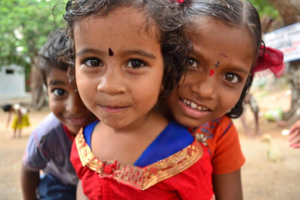 Children flock to you in India