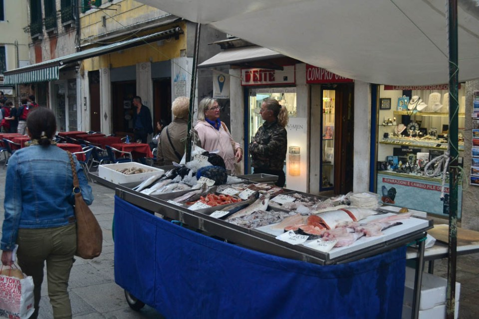 Fish sellers at Venice