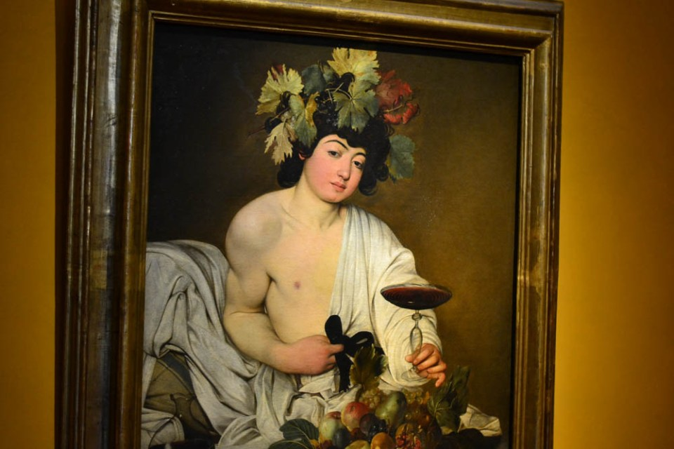 One of my favorite artistes - Carravaggio's lifelike Bacchus