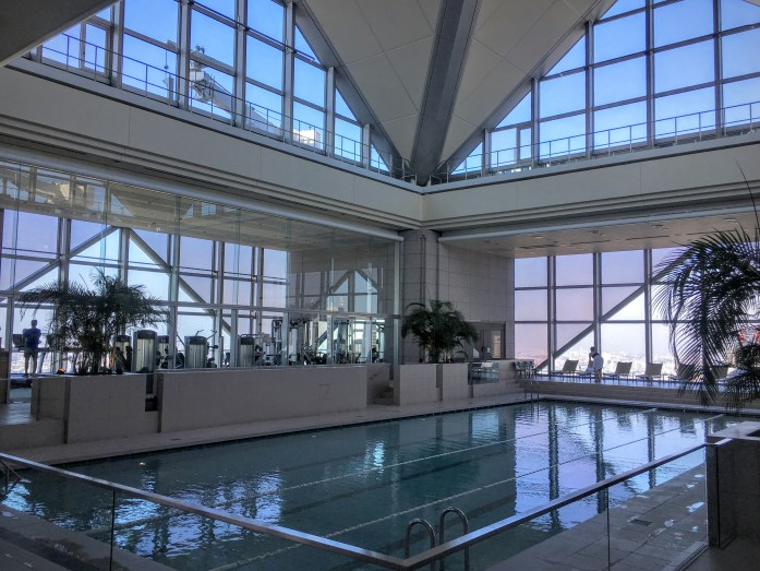 The Park Hyatt Tokyo was totally over-the-top, including the pool and fitness center