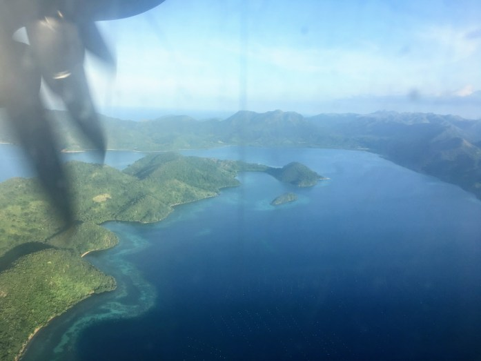 Views of Coron from the blurry plane window