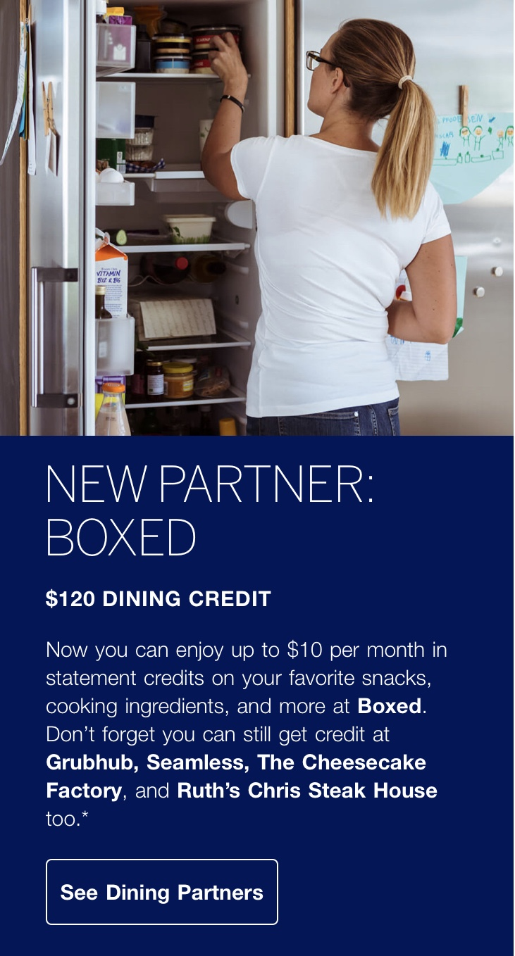 The American Express Gold Dining Credit Can Now be Used with Boxed
