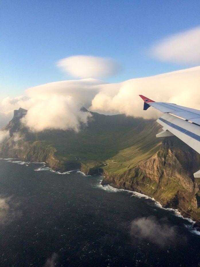Atlantic Airways flight to the Faroe Islands