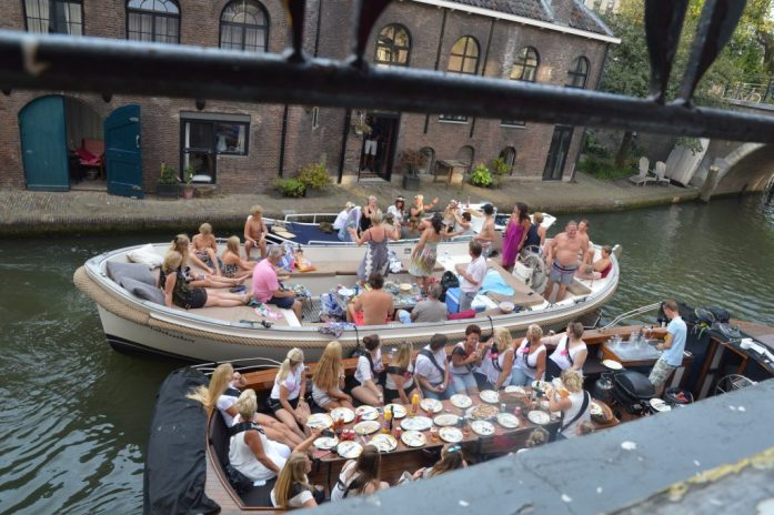 Bachelorette parties, Oudegracht, Utrecht, the Netherlands