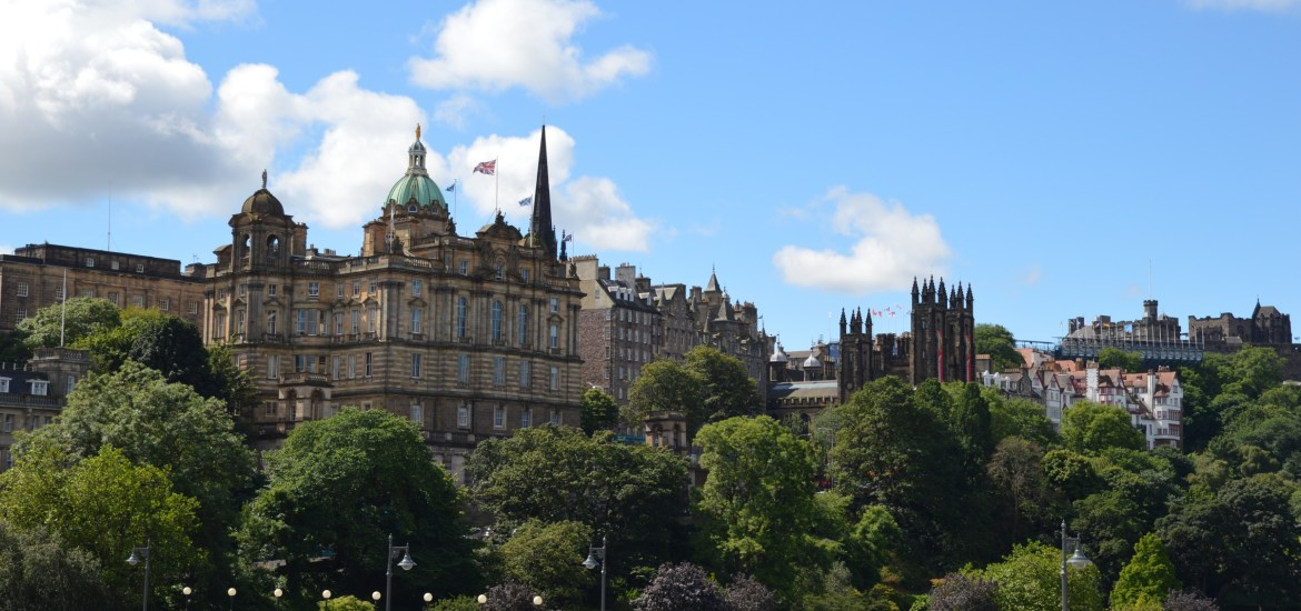 View of Old Town, Edinburgh, Scotland