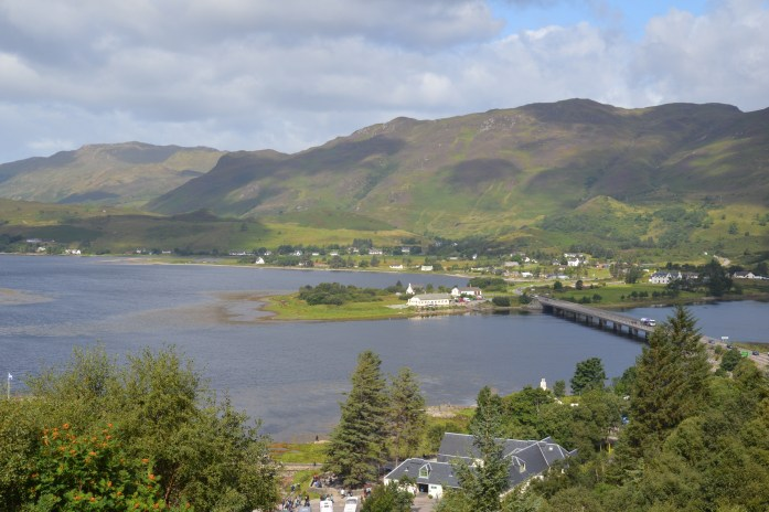 View of the lochs in Dornie, Scotland