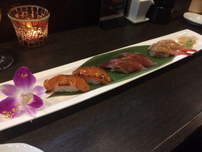 Sushi at Elbow Room, Kanazawa, Japan