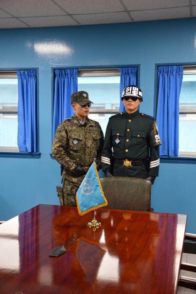 On the South Korean side of a JSA conference room, DMZ
