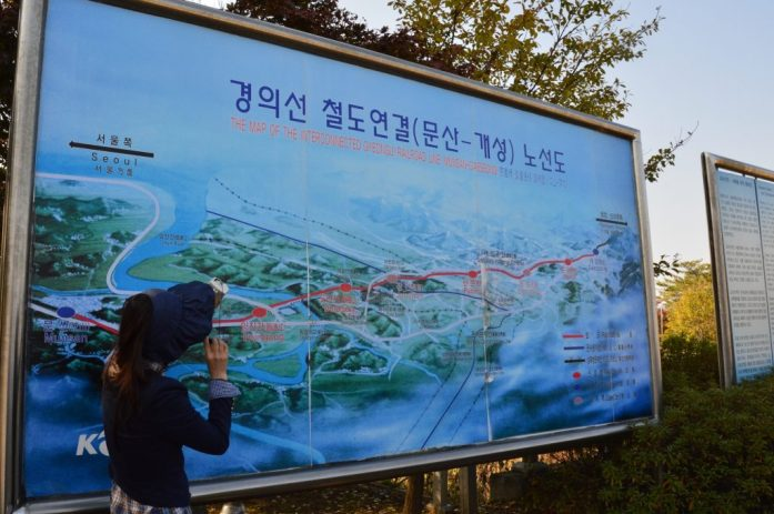 Original train route, Dorasan Station, DMZ