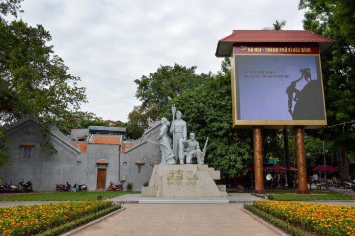 Statue near Hoàn Kiếm Lake, Hanoi, Vietnam