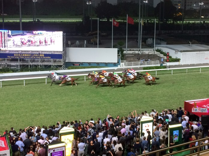 Happy Valley Racetrack in Hong Kong