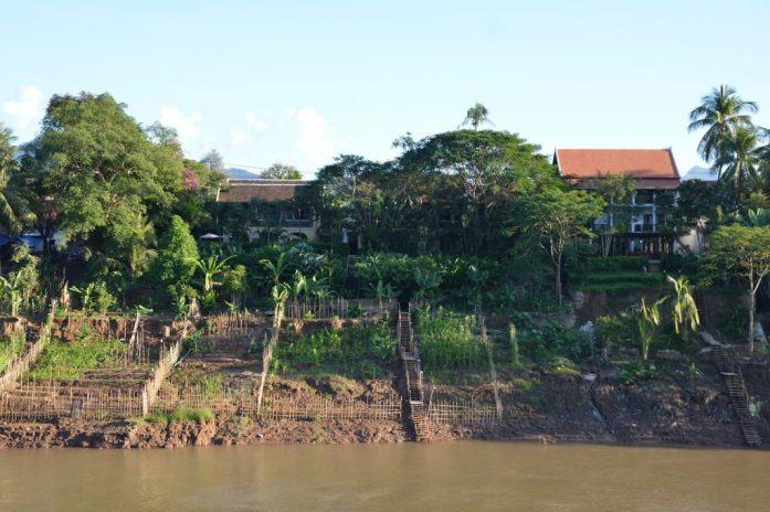 View of the Nam Khan River, Luang Prabang, Laos