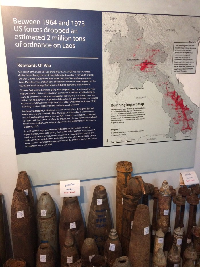 Exhibit at the UXO Lao Visitor Centre in Luang Prabang