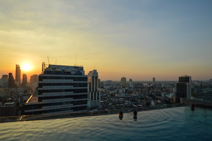 View from the Amara Bangkok rooftop pool, Thailand