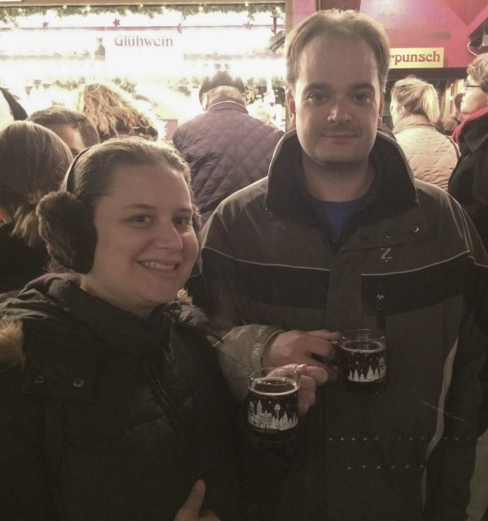 Enjoying Glühwein in Düsseldorf, Germany
