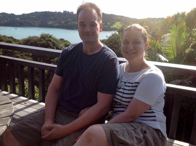 At Bronwyn and Lesley's on Waiheke Island, New Zealand