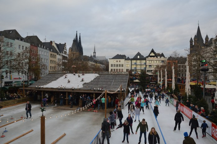 Skating rink at Heumarkt in Köln, Germany