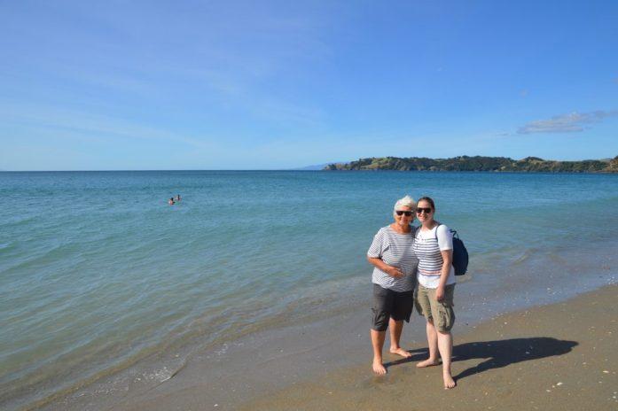 With Bronwyn on Waiheke Island, New Zealand