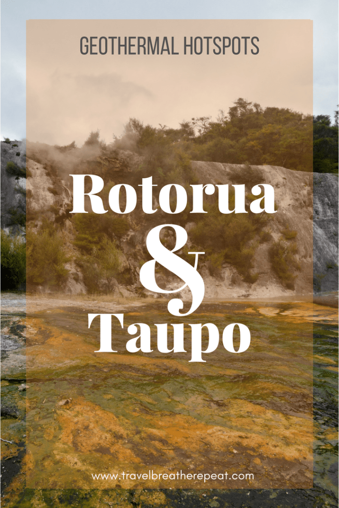 Geothermal Hotspots Rotorua and Taupo, New Zealand
