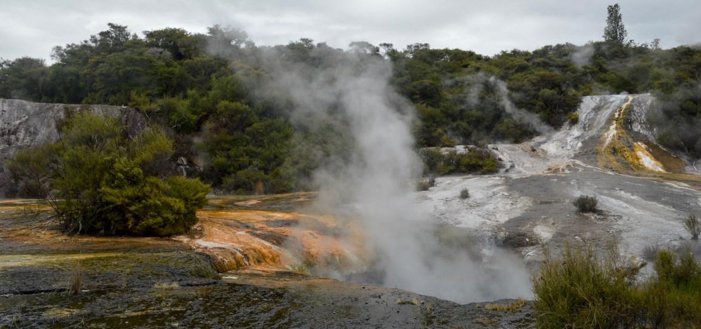 Orakei Korako Geothermal Park and Cave, New Zealand