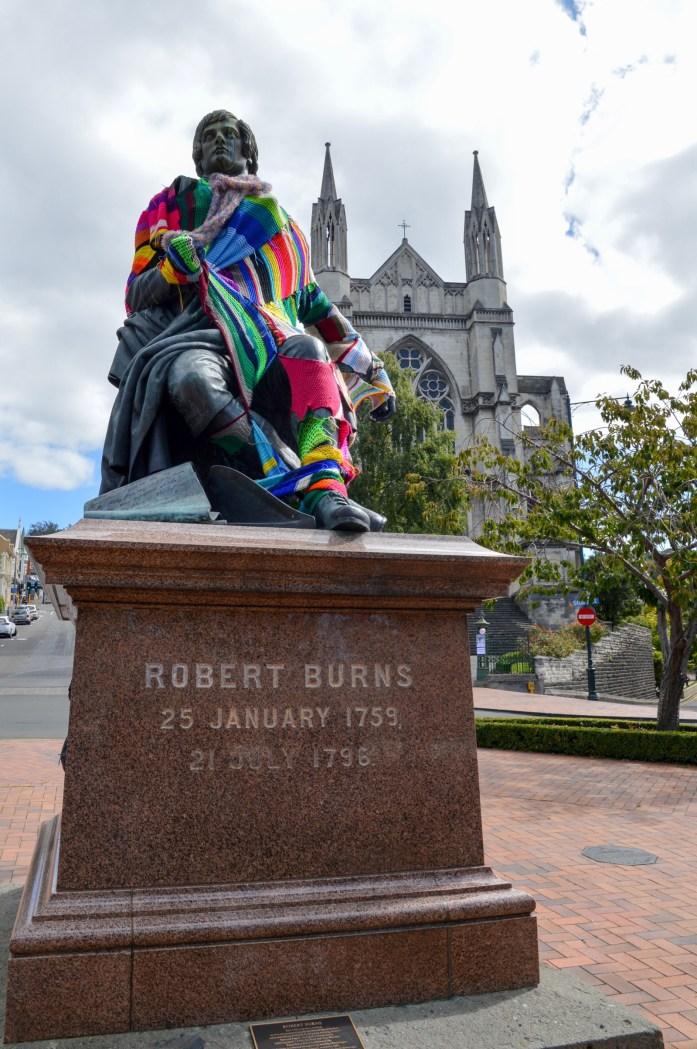 Robert Burns statue, Dunedin, New Zealand