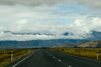 Driving from Wanaka to Twizel, New Zealand