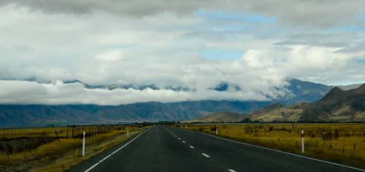 Driving from Wanaka to Twizel, New Zealand