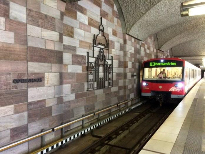 U-bahn station, Nuremberg, Germany