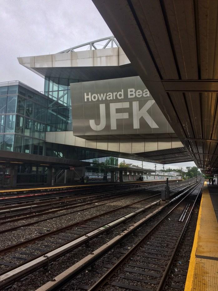Subway home from JFK, New York, NY, USA