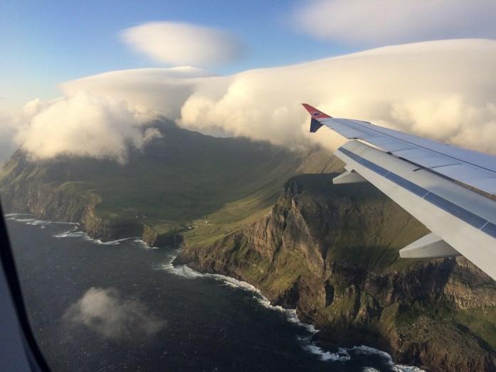 Atlantic Airways flight to Torshavn, Faroe Islands