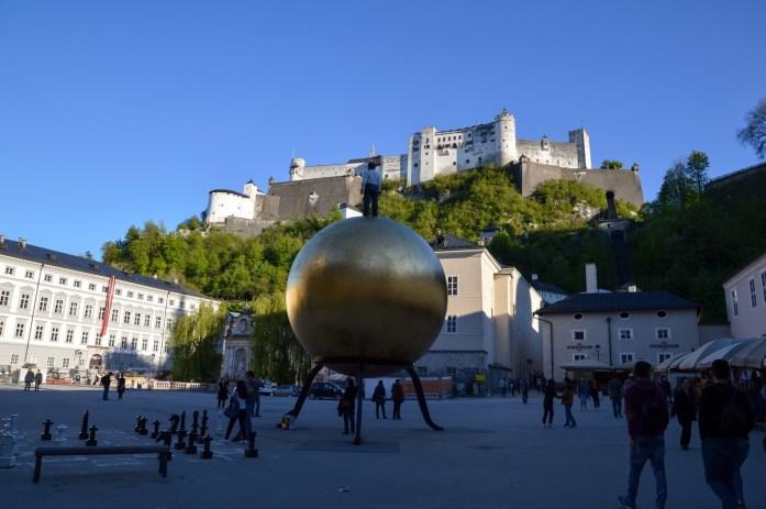 Sphaera sculpture, Kapitelplatz, Salzburg, Austria