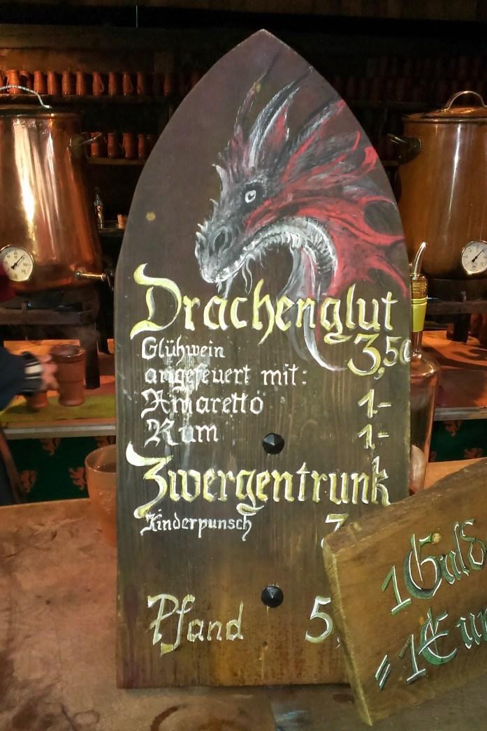 Drachenglut, Mittelaltermarkt Christmas Market, Munich, Germany