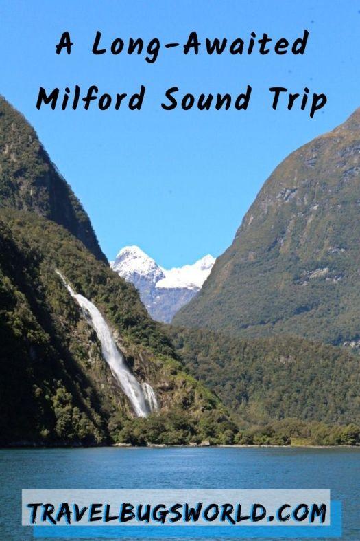 Milford Sound waterfall cruise