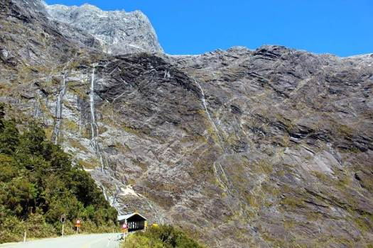 View of Homer Tunnel and mountains