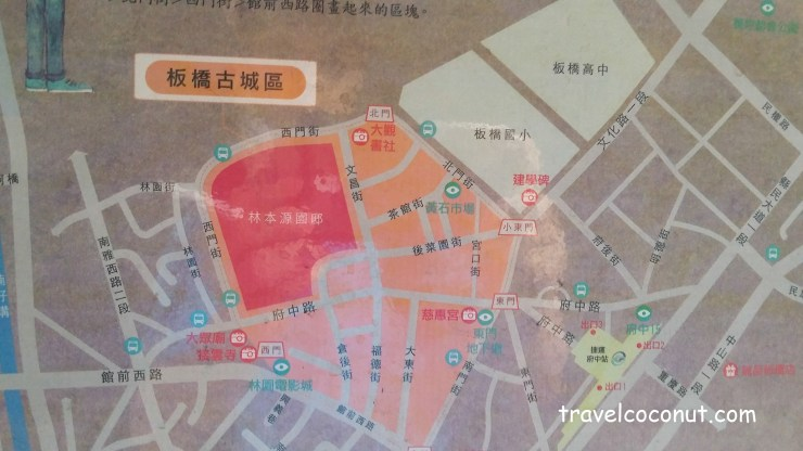 Map Of Taipei Lin Family Mansion And Garden
