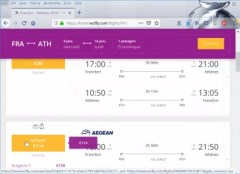 Frankfurt to Athens flights : Cheapest Frankfurt to Athens flights on WhereCanIFLY