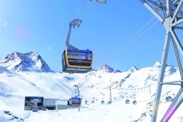 Dolina Stubai w Austrii, zima w wielkim stylu.