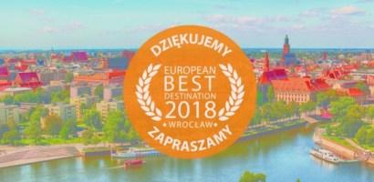 Wrocław wybrany European Best Destination 2018
