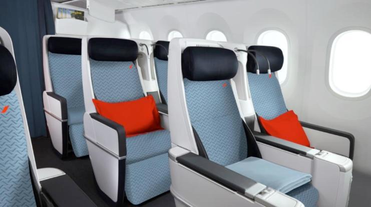 Air France prezentuje swoje nowe kabiny