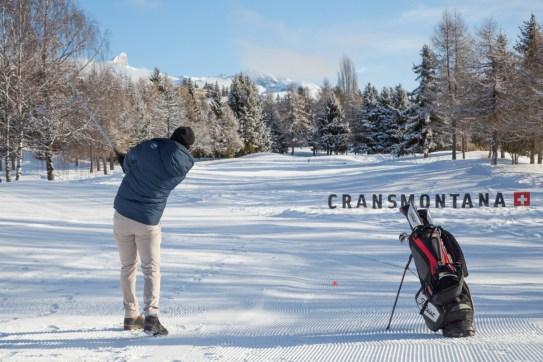 Puchary golfa na śniegu w Crans-Montana, Szwajcaria