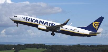 Ruch lotniczy Ryanaira w grudniu 2018