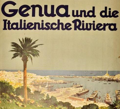 italian riviera and a palm tree