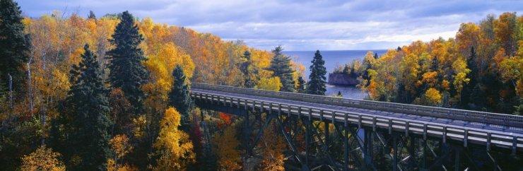 Autumn roads minnesota