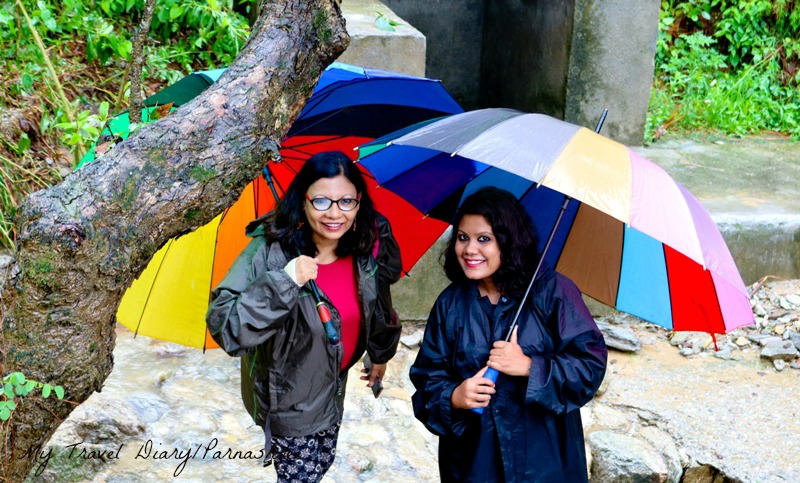 When Travel Bloggers trek on a rainy day . Pic : Me & Nisha Jha