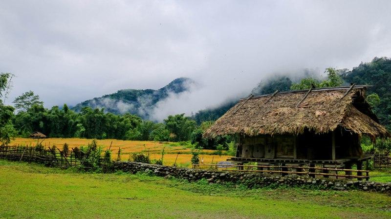 The Cloud-laden landscape of a remote village in Basar, Arunachal Pradesh