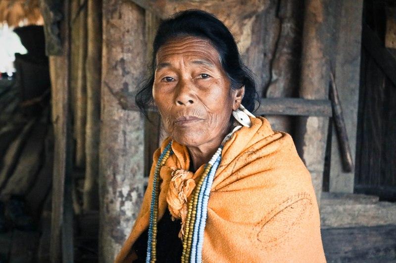 An elderly woman in a remote village of Basar
