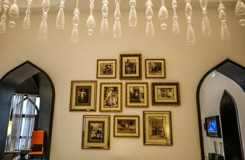 The old family photos of the Sandhanwalia family are framed on the wall, ITC welcomhotel Amritsar