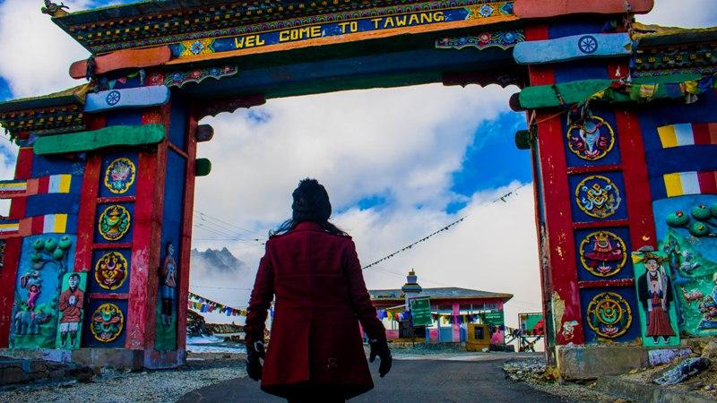 Me at Sela Pass in front of Welcome Gate, Tawang, Arunachal Pradesh