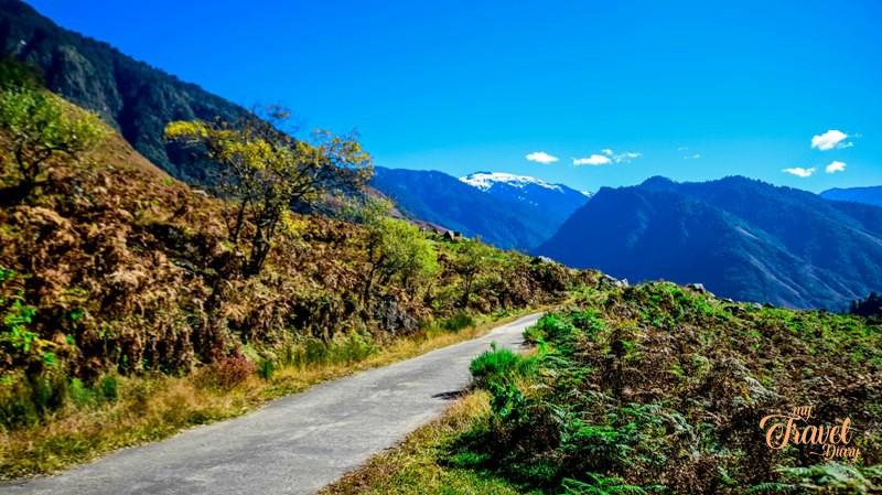 On the way to Dembuen village in Anini in Arunachal Pradesh