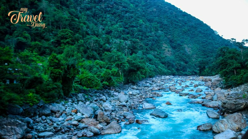 River along with the road to Anini in Arunachal Pradesh